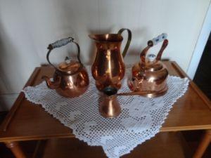 Brass Tea Set with Food Warmer – $45