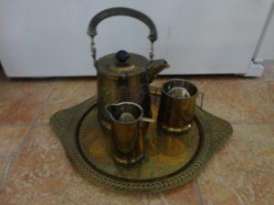 Antique Brass Coffee / Tea Set – $25