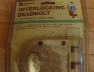 Interlocking Deadbolt – $20