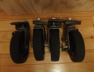 4 Rubber Scaffold Wheels – $55