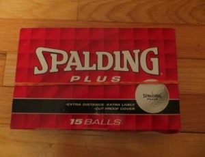 Spalding Plus 15 Golf Balls – $15