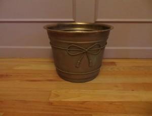 Brass Flower Pot – $20