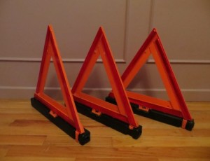Emergency Roadside Reflective Triangle – $25