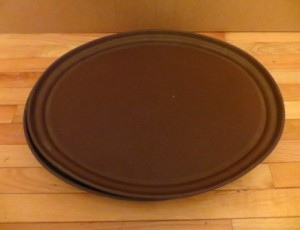 2 Heavy Duty Oval Trays – $10