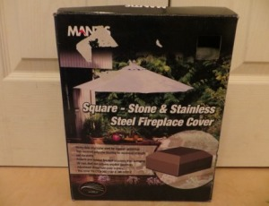 Square – Stone and Stainless Steel Fireplace Cover – $10