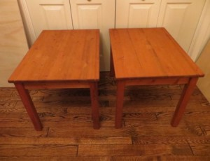 2 End Tables – $30