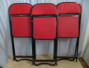 Set of 3 Red Chairs – $10