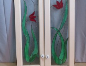 Stained Glass Panel Cabinet Door – $45