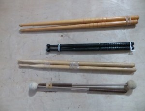 Drum Sticks and Xylophone Mallets – $20