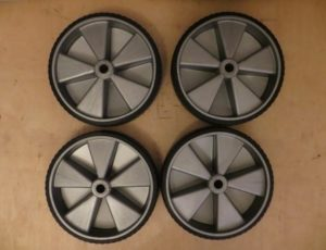 4 Rubber Heavy Duty Wheels – $40