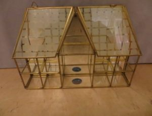 Glass Mirror Decorative House Piece – $10