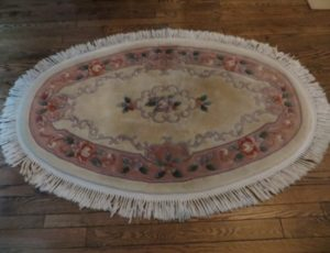 Oval Wool Carpet – $85