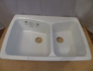Carea Double Bowl Sink – $155