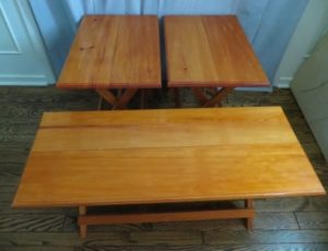 Set of 3 Folding Table – $65