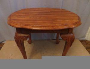 Solid Oak Wood Side Table – $65