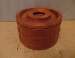 Wooden Cookie Jar -$25