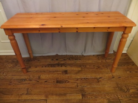 Solid Wood Foyer Table – $95