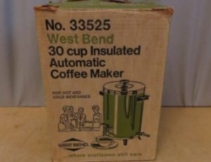 West Bend Insulated Autamatic Coffee Maker – $25