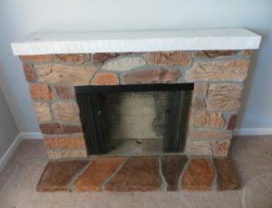 Fiberglass Fireplace – $95