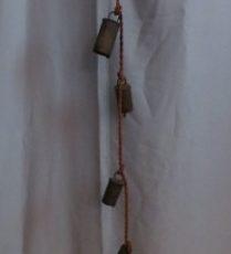 Vintage Metal Cow Goat Bells String of Six – $35