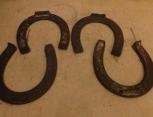 Vintage Diamond Drop Forged Horseshoes – $85