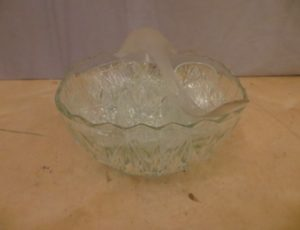 Vintage Cut Crystal Clear Glass Punch Bowl – $30