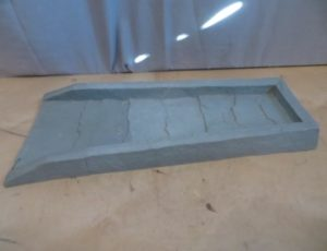 24″ Poly Gray Splash Block – $20