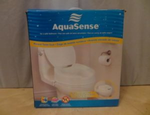 Aquasense Raised Toilet Seat – $35