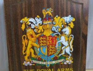 The Royal Arms Dart Board – $55