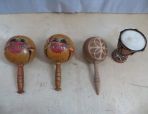Small Maracas and Small Drum – $35
