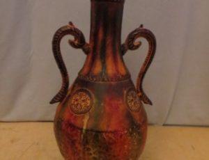 Vintage Metal Vase – $35