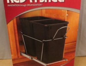 Double 27 Qt. Pull-out Waste Containers – $75