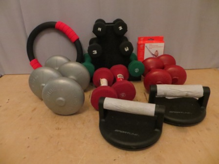Set of Weight and Workout Equipment – $85