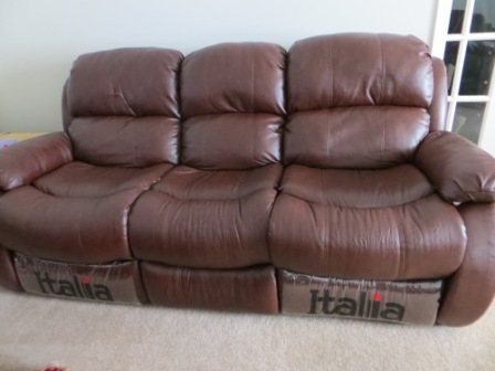 3 Piece Reclining Leather Sofa/Couch Set